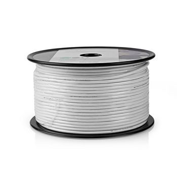 Coax Cable | 4G / LTE-Proof | 100 m | Reel | White