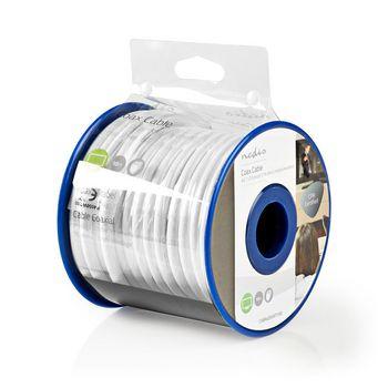 Coaxkabel   4G / LTE-Bestendig   10,0 m   Minirol   Wit