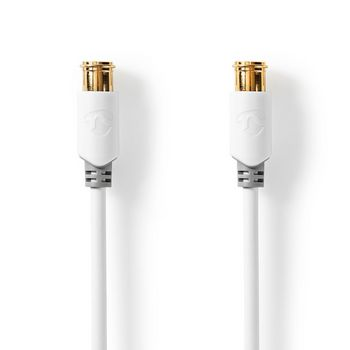 Satellite & Antenna Cable | F Male Quick - F Male Quick | 1.0 m | White