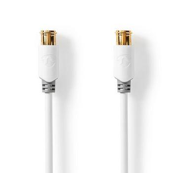 Satellite & Antenna Cable | F Male Quick - F Male Quick | 5.0 m | White