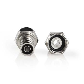 F-kontaktdon, väderbeständigt | Hane - för 7.0 mm koaxialkablar | 2 delar | Metall