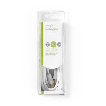 Coax Cable 100dB | IEC (Coax) Male - IEC (Coax) Female | 5.0 m | White