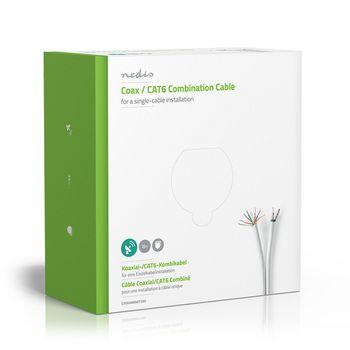 Coax / CAT6 Combination Cable | 25.0 m