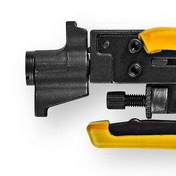 Kompressionszange | F-Stecker | RG58, RG59, RG6, RG7, RG11 | Gehärteter Stahl