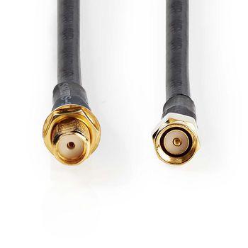 Antenna Cable HSR-200 | SMA Male - SMA Female | 10.0 m | Black