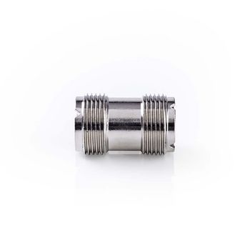 Satellite & Antenna Adapter | PL259 Female | PL259 Female | Nickel Plated | 75 Ohm | Straight | Metal | Silver | 10 pcs | Polybag