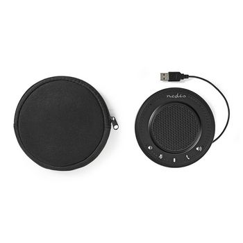 Conference Speaker | 2.5 W | Touch Control | USB-Powered | Black