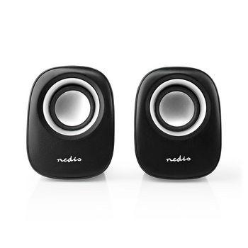 PC speaker | 2.0 | 12 W | 3.5mm Jack | Black / Silver