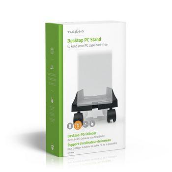 Computer Trolley | Adjustable Width | 4 Locking Caster Wheels