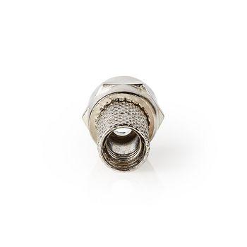 F-kontakt   Hann   For 6,0 mm koaksialkabler   25 stykker   Metall