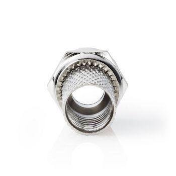 F-connector | Mannelijk | Voor 6,8mm-coaxkabels | 25 stuks | Metaal