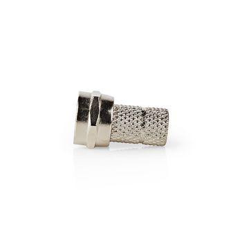 F-connector | Mannelijk | Voor 5,0mm-coaxkabels | 25 stuks | Metaal