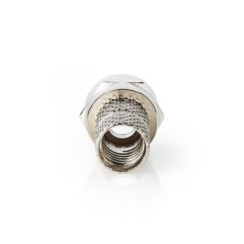 F-kontakt | Hane | för 5.5 mm koaxialkablar | 25 st | Metall