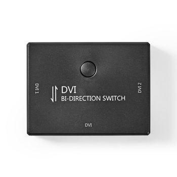 2-Port | DVI Bi-Direction Switch | Black