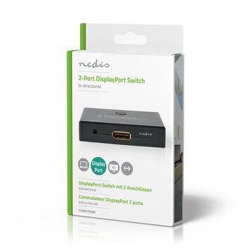 2-Port | DisplayPort Bi-Direction Switch | Black