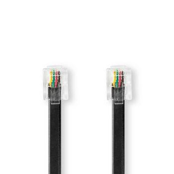 Telecom Cable   RJ11 Male   RJ11 Male   2.0 m   Black