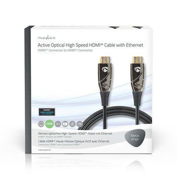High Speed HDMI™-kabel med Ethernet   AOC   HDMI™-stik - HDMI™-stik   75,0 m   Sort