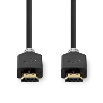 High Speed HDMI™ Cable with Ethernet | HDMI™ Connector - HDMI™ Connector | 3.0 m | Anthracite