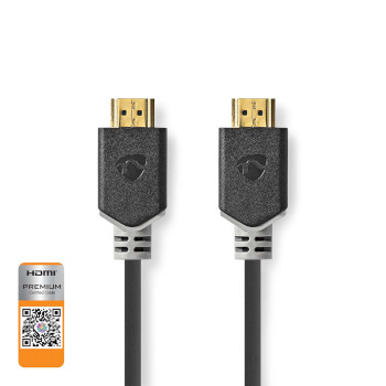 Premium High Speed HDMI™-Kabel met Ethernet | HDMI™-Connector - HDMI™-Connector | 5,00 m | Antraciet