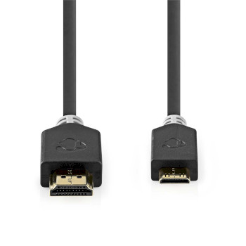 High Speed HDMI™ Cable with Ethernet | HDMI™ Connector - HDMI™ Mini Connector | 2.0 m | Anthracite