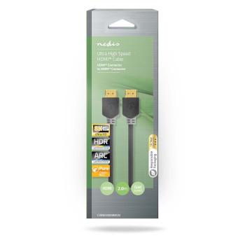 Cable HDMI™ de Velocidad Ultrarrápida | Conector HDMI™ a Conector HDMI™ | 2,00 m | Antracita