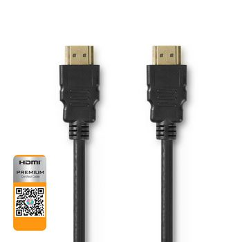 Premium High Speed HDMI™ Cable with Ethernet | HDMI™ Connector - HDMI™ Connector | 1.00 m | Black