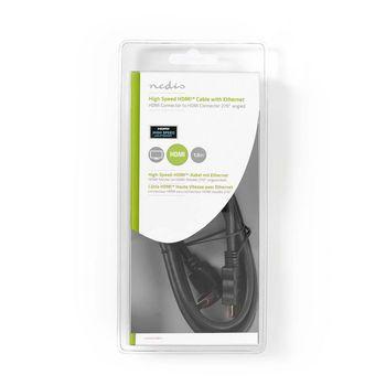 Cavo HDMI™ ad alta velocità con Ethernet | Connettore HDMI - Connettore HDMI ad angolo di 270° | 1,5 m | Nero
