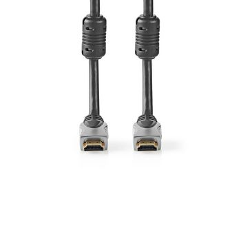 High Speed HDMI™ kabel s Ethernetem | Konektor HDMI ™ | Konektor HDMI ™ | 4K@30Hz | 10.2 Gbps | 20.0 m | Kulatý | PVC | Černá | Box