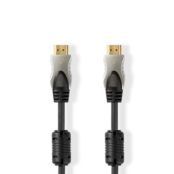 Ultra High Speed HDMI™ Cable | HDMI™ Connector - HDMI™ Connector | 1.0 m | Anthracite
