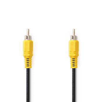 Cable de Vídeo Compuesto | RCA Macho - RCA Macho | 10 m | Negro