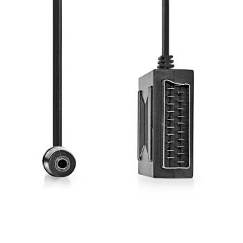 SCART Adapter | SCART Male - SCART Female + 3.5 mm Female | 0.2 m | Black