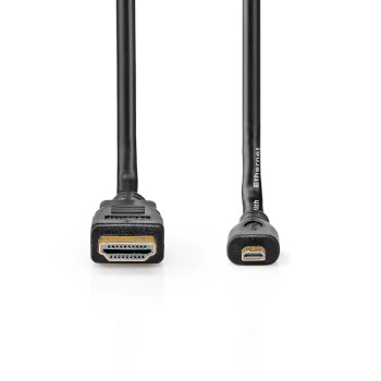 High Speed HDMI™ Cable with Ethernet | HDMI™ Connector - HDMI™ Micro Connector | 2.0 m | Black