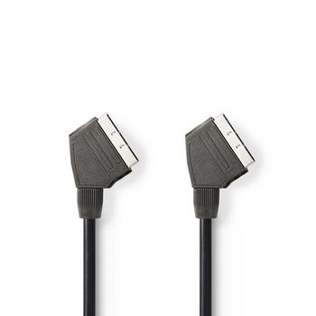 SCART Cable | SCART Male - SCART Male | 2.0 m | Black