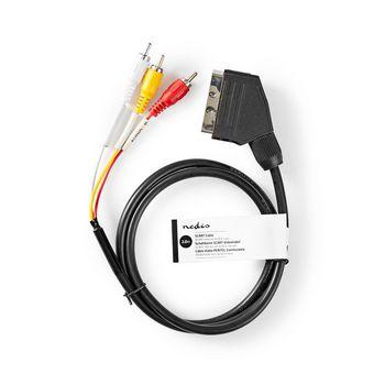 SCART - RCA-Kabel | SCART Hann | RCA Hann | 2,0 m | Svart
