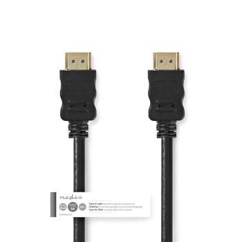 Nagy sebességű HDMI™ kábel Ethernet átvitellel | HDMI™-csatlakozó – HDMI™-csatlakozó | 5,0 m | Fekete