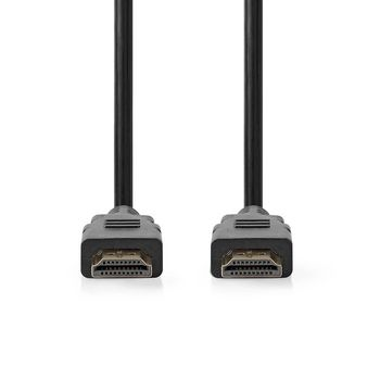 Nagy sebességű HDMI™ kábel Ethernet átvitellel   HDMI™-csatlakozó - HDMI™-csatlakozó   1.5 mm   Fekete