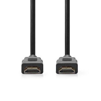 Nagy sebességű HDMI™ kábel Ethernet átvitellel | HDMI™-csatlakozó - HDMI™-csatlakozó | 2,0 m | Fekete