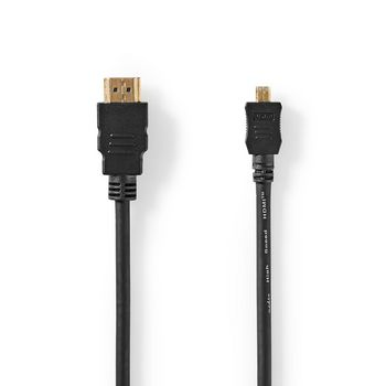High Speed HDMI™ Cable with Ethernet | HDMI™ Connector | HDMI™ Micro Connector | 1.5 m | Black