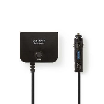 Universal DC Power Adapter | 5/12 VDC | Car charger/USB | 3-Way