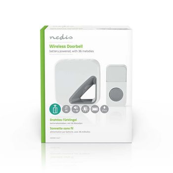 Wireless Doorbell Set | Battery Powered | 36 Melodies