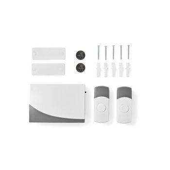 Wireless Doorbell Set   Battery Powered   2 Transmitters
