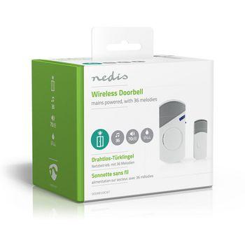 Wireless Doorbell Set | Mains Powered | 36 Melodies