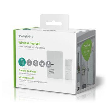 Wireless Doorbell Set | Mains Powered | Light Signal | White