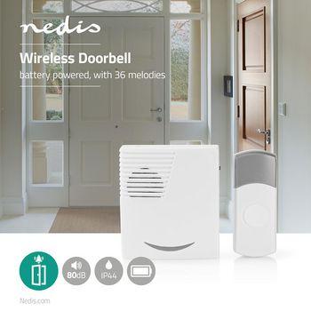 Wireless Doorbell Set | Battery Powered | 36 Melodies