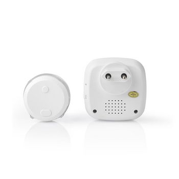 Wireless Doorbell Set | Mains Powered | 36 Melodies | Bright flashing LED