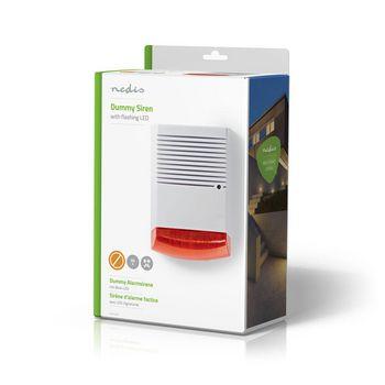 Dummy beveiligings-sirene | IP44 | Wit / oranje