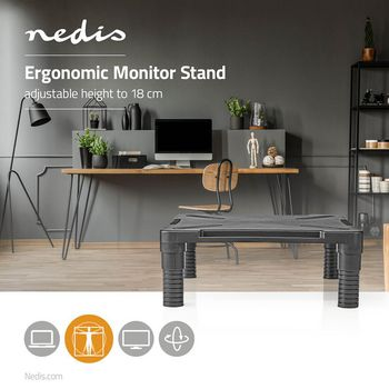 Ergonomic Monitor Stand | Adjustable | Black