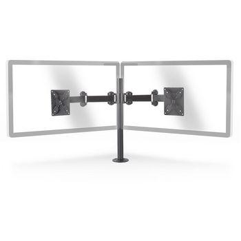 Supporto Monitor Ergonomico | Braccio Doppio Monitor | Omnidirezionale | Nero