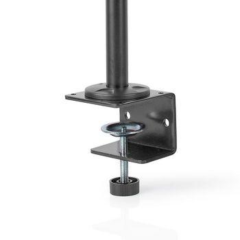 Ergonomický Držák Monitoru | Dvouramenný Úchop Monitoru | Plně Pohyblivý | Černý
