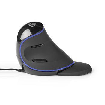 Ergonomic Wired Mouse | 1600 dpi | 6-Button | Black